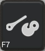 Ikon för knapp F7
